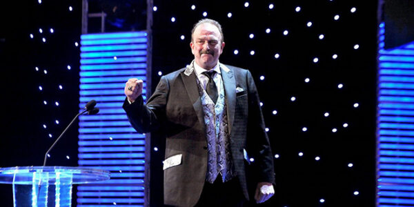 "Jake ""The Snake"" Roberts at the 2014 WWE Hall of Fame ceremony."