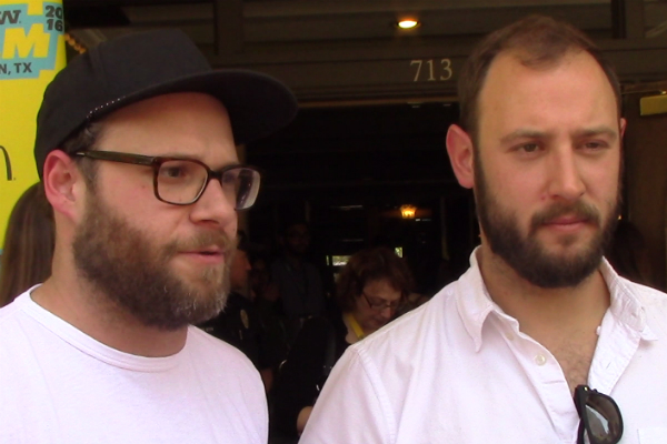seth rogen and evan goldberg preacher red carpet