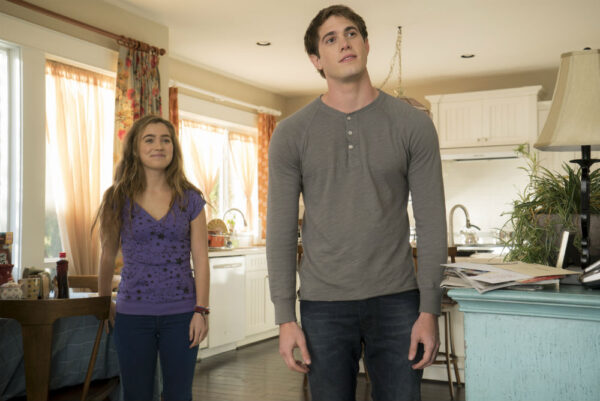 Haley Lu Richardson and Blake Jenner in 'The Edge of Seventeen'