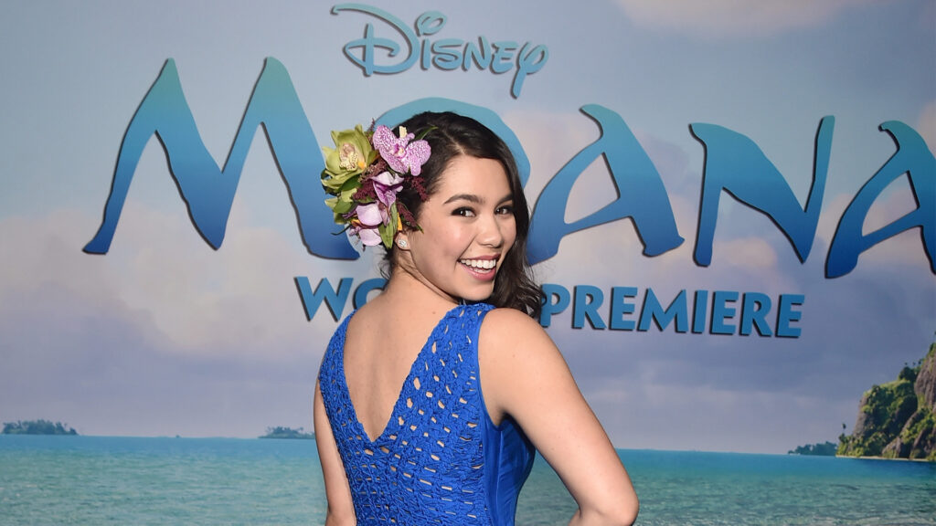 Auli'i Cravalhom at the world premiere of 'Moana.'