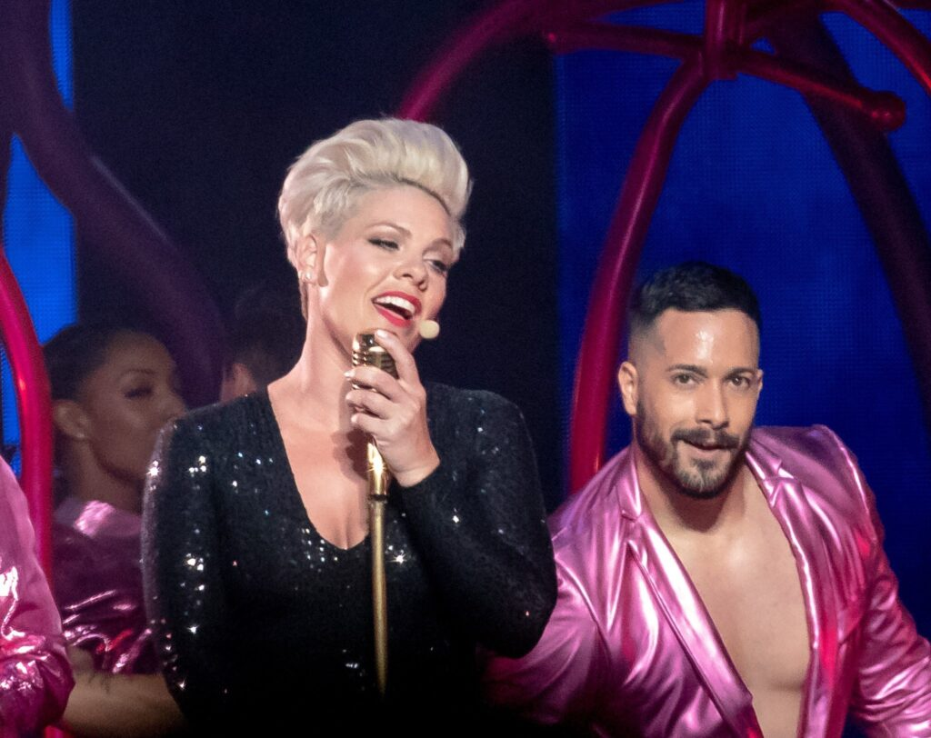 Pink performs at Gila River Arena in Glendale, AZ on March 30, 2019.