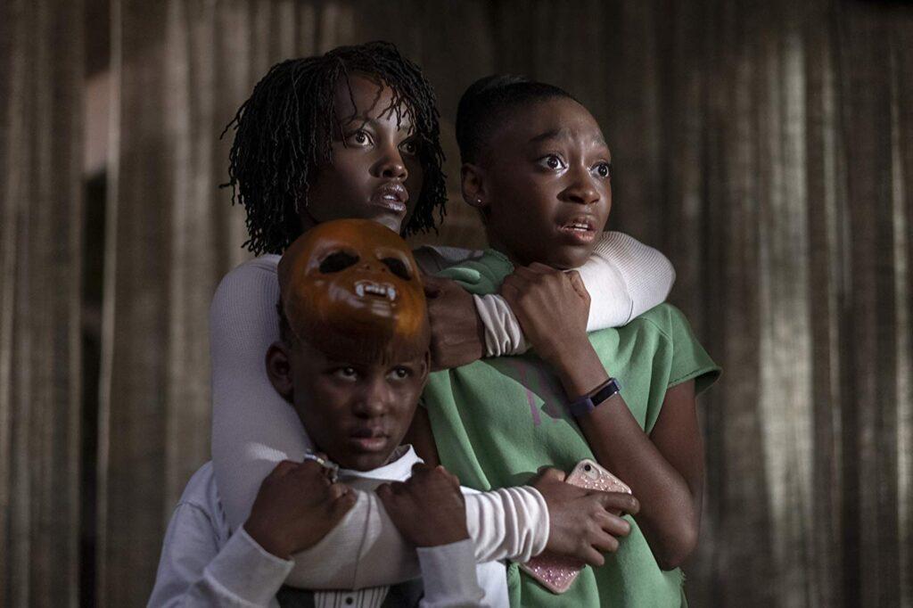 Lupita Nyong'o, Evan Alex, and Shahadi Wright Joseph in Us