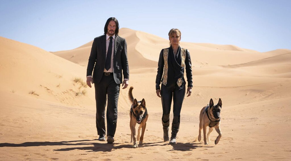 Keanu Reeves and Halle Berry in John Wick Chapter 3
