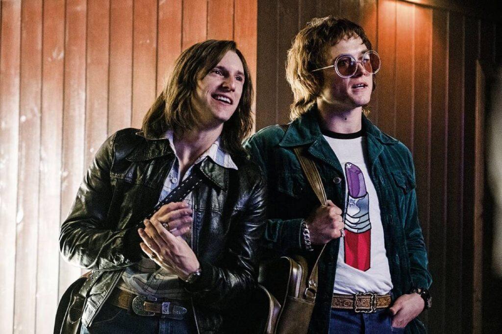 Jamie Bell and Taron Egerton in Rocketman
