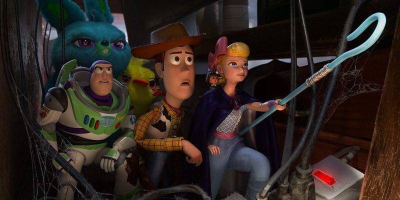 Tim Allen, Tom Hanks and Christina Hendricks in Toy Story 4