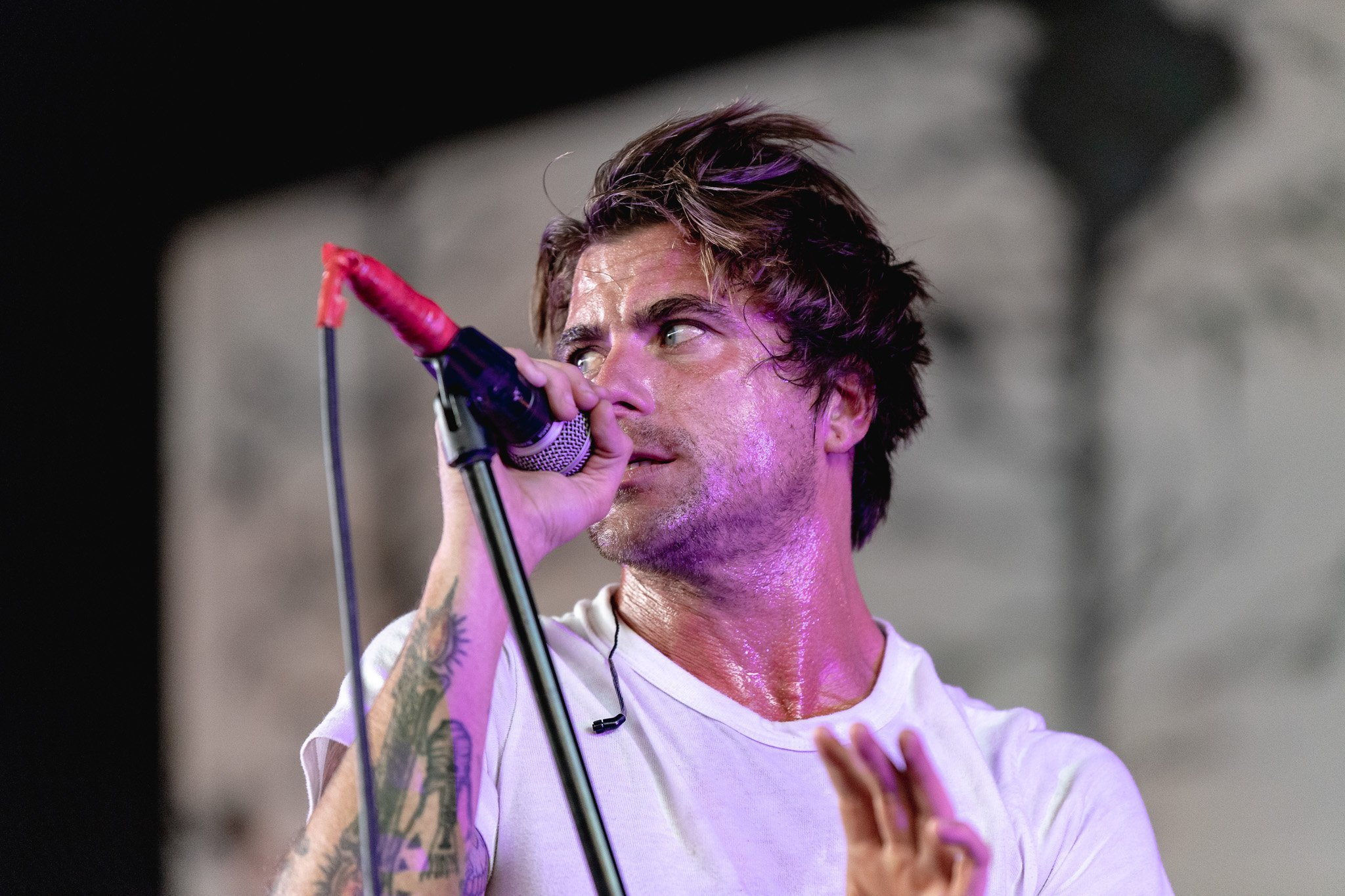 Circa Survive performs at the Rockstar Disrupt Festival in Phoenix, AZ on July 27, 2019.