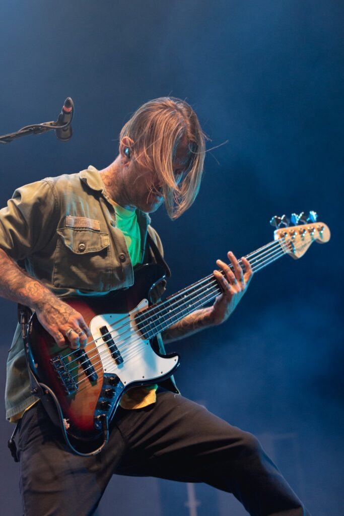 The Used performs at the Rockstar Disrupt Festival in Phoenix, AZ on July 27, 2019.