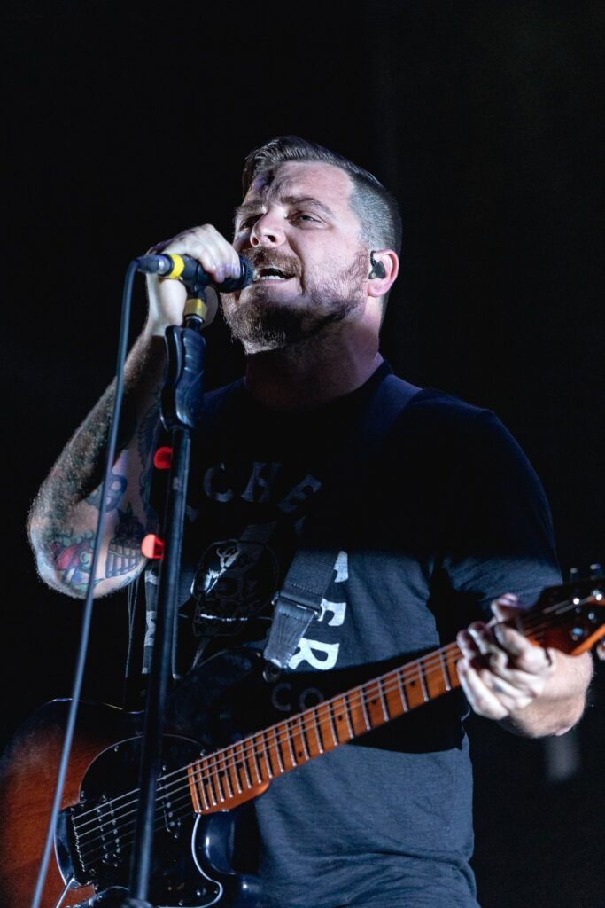 Thrice performs at the Rockstar Disrupt Festival in Phoenix, AZ on July 27, 2019.