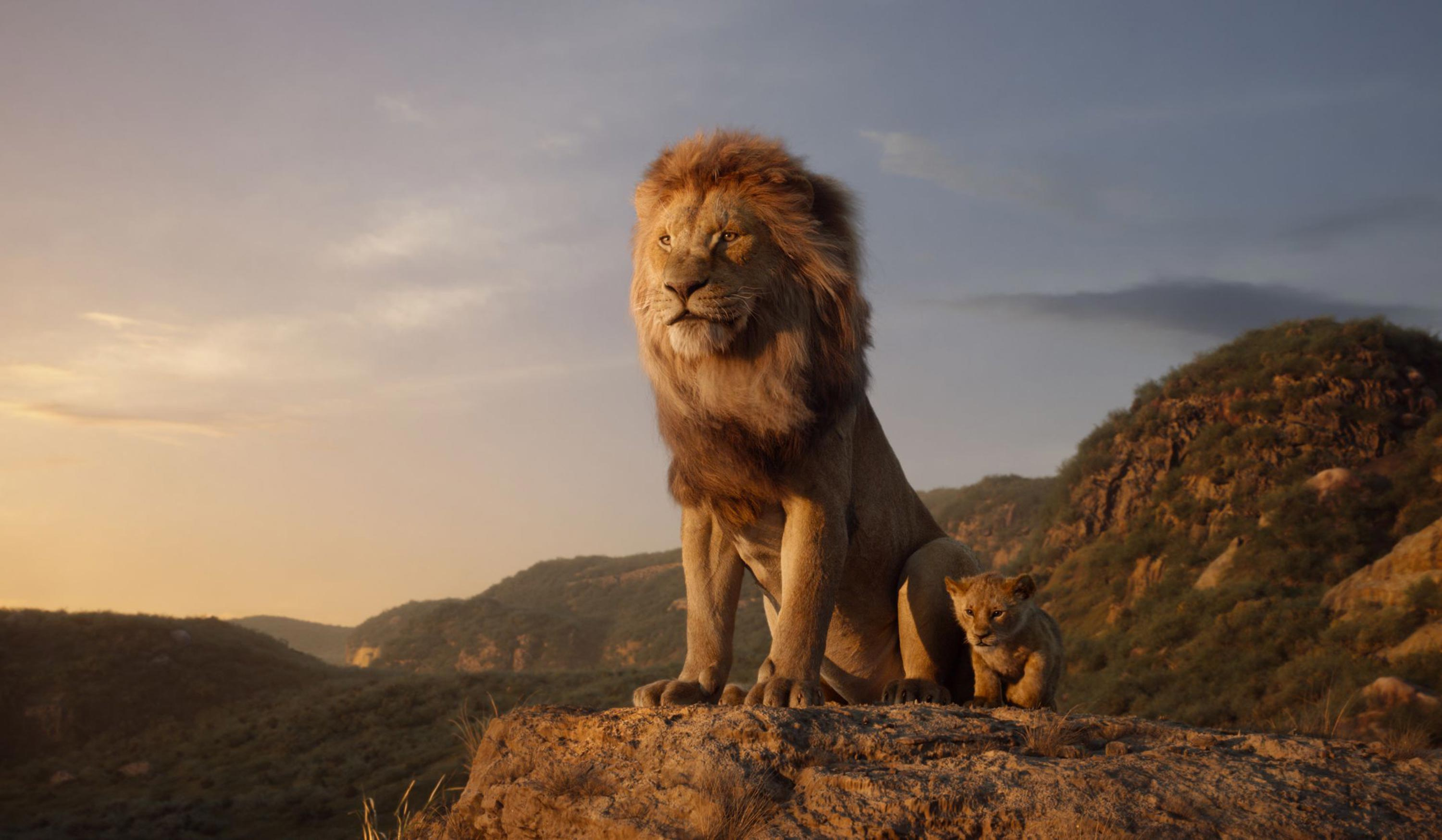 Mufasa and Simba in Disney's The Lion King