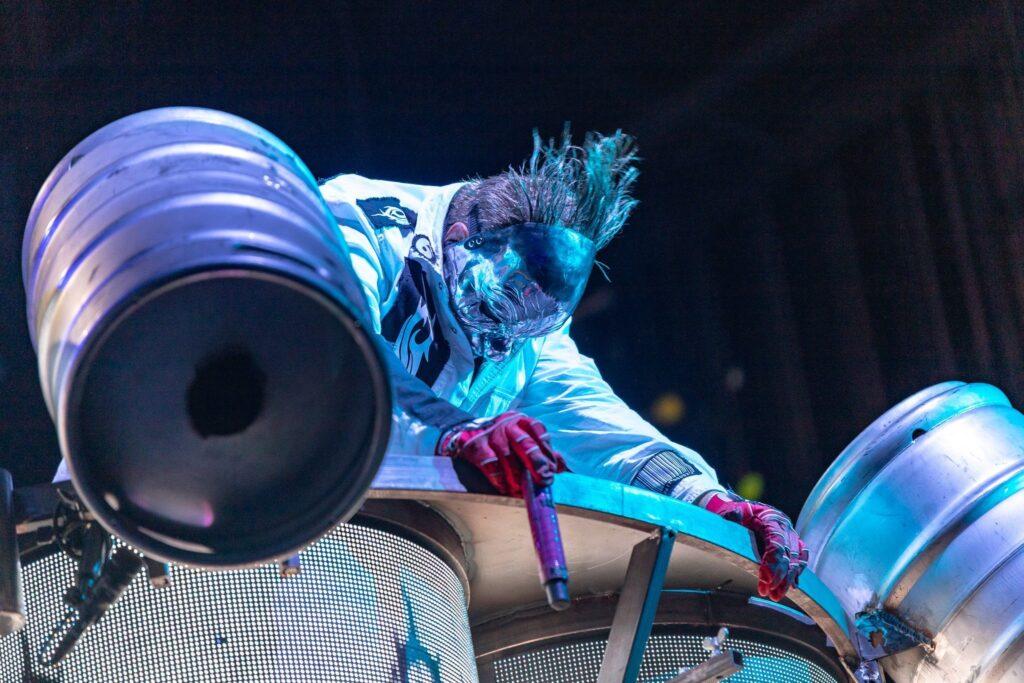 Slipknot performs at Ak-Chin Pavilion in Phoenix, AZ on August 4, 2019.