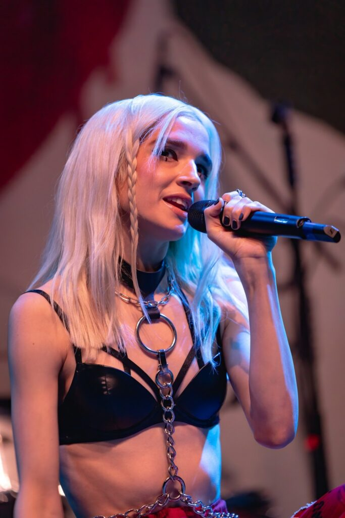 Poppy performs at Comerica Theater in Phoenix, AZ on October 10, 2019. Photo by Brent Hankins