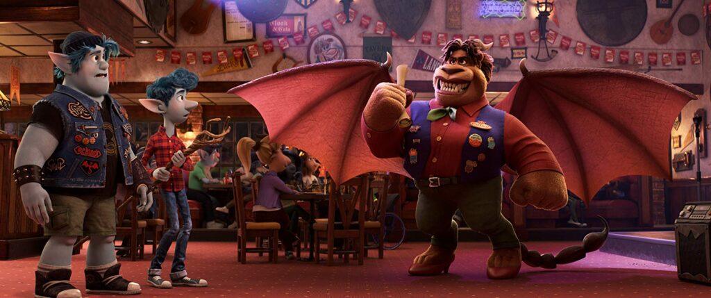 Tom Holland, Chris Pratt and Octavia Spencer in Disney Pixar's Onward
