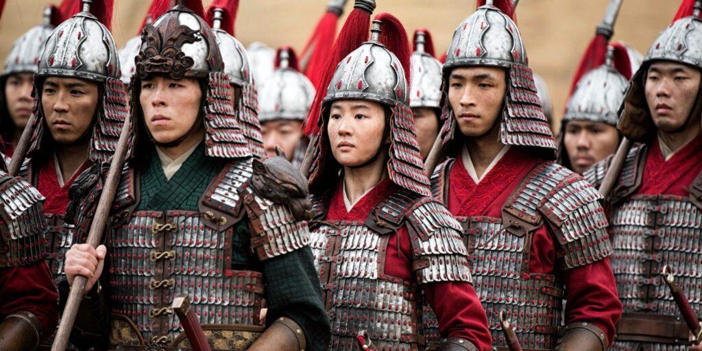 Liu Yufei in Disney's live-action MULAN remake