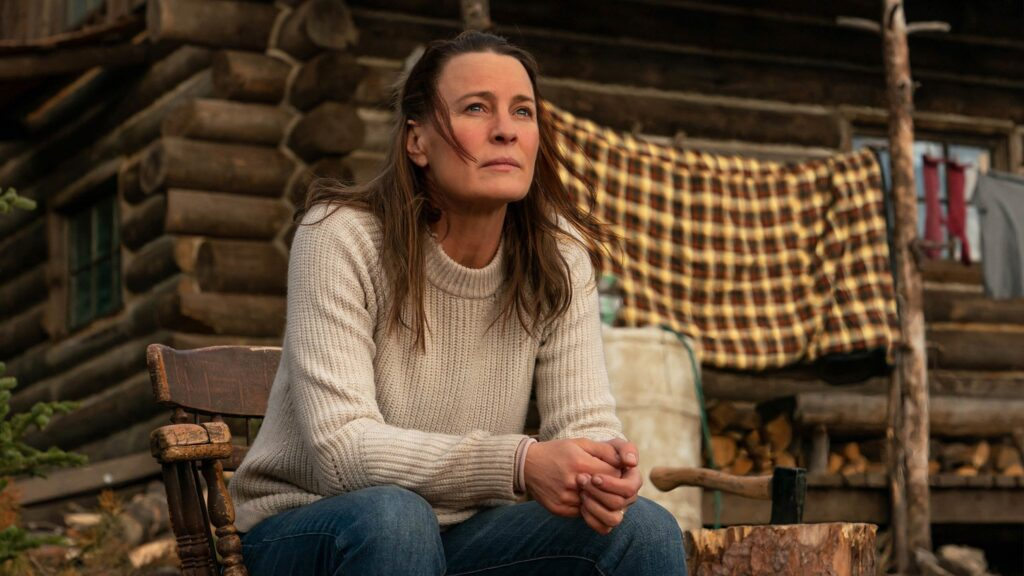 Robin Wright appears in Land by Robin Wright, an official selection of the Premieres section at the 2021 Sundance Film Festival. Courtesy of Sundance Institute   photo by Daniel Power Copyright Focus Features LLC 2020.