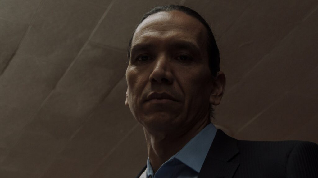 Michael Greyeyes appears in Wild Indian by Lyle Mitchell Corbine Jr, an official selection of the U.S. Dramatic Competition at the 2021 Sundance Film Festival. Courtesy of Sundance Institute | photo by Eli Born.