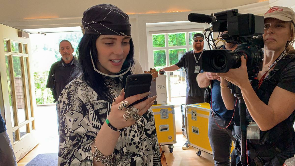 "Billie Eilish in ""Billie Eilish: The World's A Little Blurry,"" premiering globally February 26, 2021 on Apple TV+."