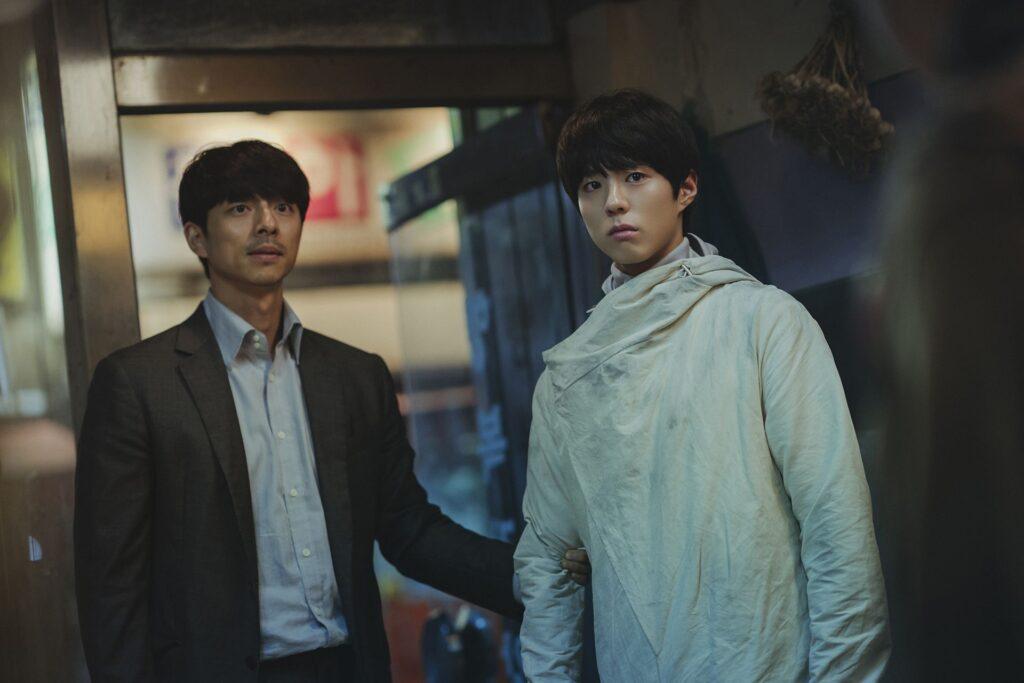 Gong Yoo and Park Bo-Gum in SEOBOK