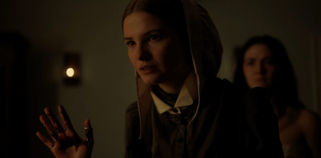 Stefanie Scott and Isabelle Fuhrman in THE LAST THING MARY SAW