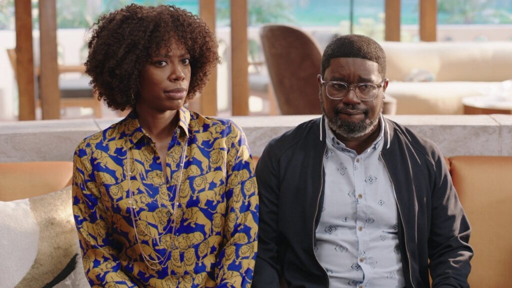 Yvonne Orji and Lil Rel Howery in VACATION FRIENDS