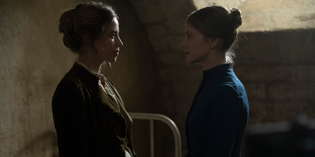 Lou de Laâge and Mélanie Laurent in THE MAD WOMEN'S BALL at TIFF 2021